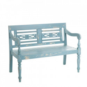 Banca albastra din lemn mindi 118 cm Azelia Ixia