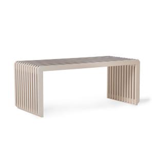 Bancheta crem din lemn de sungkai 96 cm Teri HK Living