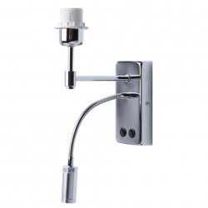 Baza pentru aplica argintie din metal cu LED City MW Glasberg