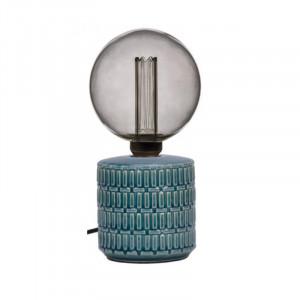 Baza veioza albastra din ceramica 12 cm Poetic Opjet Paris