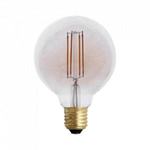 Bec dimabil maro chihlimbar cu filament LED E27 4W Edison Globe Opjet Paris