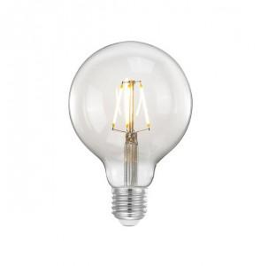 Bec dimabil transparent cu filament LED E27 4W Sphere Large LABEL51