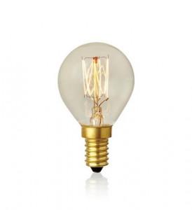 Bec filament cu detalii metalice aurii 15W Carbon Markslojd