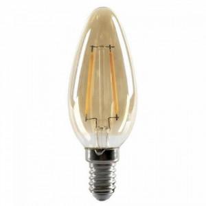 Bec maro chihlimbar cu filament LED E14 2W Edison Flame Opjet Paris