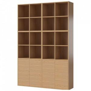 Biblioteca maro din lemn 210 cm Combination Bolia