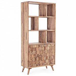 Biblioteca maro din lemn de sheesham 192 cm Kant Bizzotto