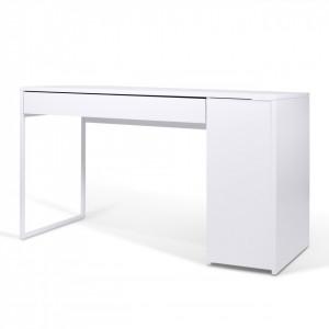 Birou alb din panouri 60x130 cm Prado Chrome TemaHome