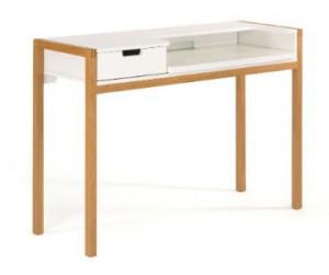Birou alb/maro din lemn si MDF 43x122 cm Farringdon Woodman