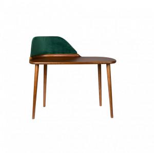 Birou din lemn si catifea verde 110 cm Finn Dutchbone