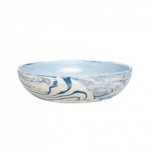 Bol alb/albastru din ceramica 13x13 cm Maurice Hubsch
