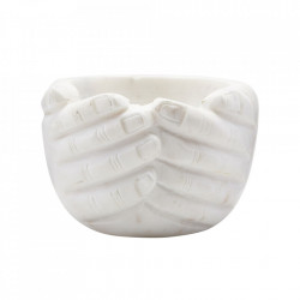 Bol alb din marmura 15 cm Hands House Doctor