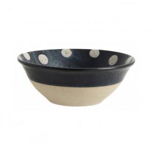 Bol albastru/bej nisipiu din ceramica 15 cm Grainy Nordal