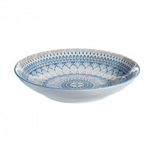 Bol pentru servire alb/albastru din portelan 32 cm Salcombe Ixia