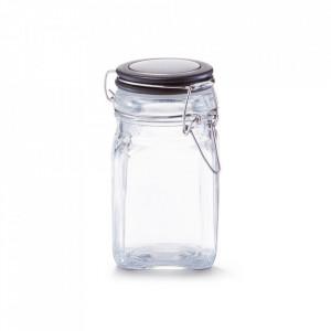 Borcan cu capac transparent/negru din sticla 280 ml Nicolas Zeller