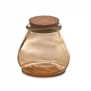 Borcan maro din sticla cu capac pluta 13 cm Rohan Kave Home