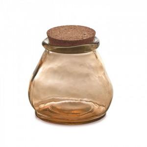 Borcan maro din sticla cu capac pluta 13 cm Rohan La Forma