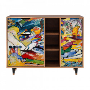 Bufet inferior multicolor din MDF si lemn 125 cm Improvisation 26 By Wassily Kandinsky Furny