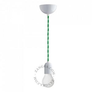 Cablu verde din PVC si textil 1 m Rob Zangra