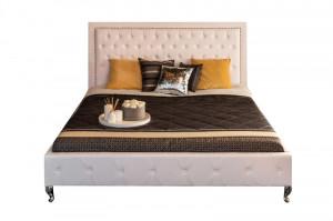 Cadru pat alb din piele si MDF 180x200 cm Extravagancia Invicta Interior
