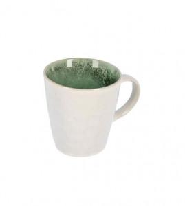 Cana alba/verde din ceramica 9,5x10,1 cm Vreni La Forma