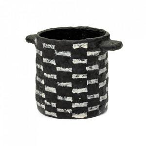 Cana neagra din papier mâché 14x15 cm Earth Serax