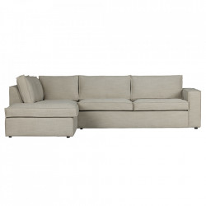 Canapea cu colt crem din poliester 283 cm Freddie Left Woood