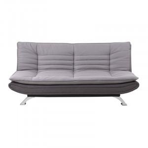 Canapea extensibila gri/argintie din metal si textil 196 cm Faith Actona Company