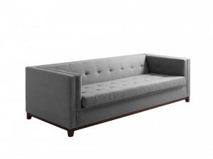 Canapea extensibila gri din polipropilena si lemn pentru 3 persoane Silver Tom Custom Form