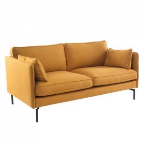 Canapea galbena din lemn si textil 173 cm Nona Pols Potten