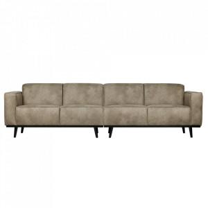 Canapea gri din nailon si poliuretan pentru 4 persoane Statement XL Be Pure Home