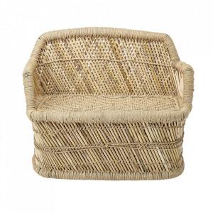 Canapea maro din bambus si iuta 61 cm Nature Bloomingville