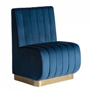 Canapea modulara albastra din catifea si placaj 70 cm Jayat Vical Home