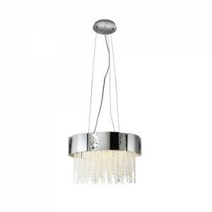 Candelabru argintiu din metal si cristal cu 8 becuri Astor Milagro Lighting