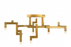 Candelabru auriu din inox cu 6 becuri Elements Versmissen