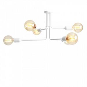 Candelabru metalic alb cu 6 becuri Vanwerk 63 Custom Form