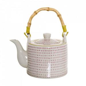 Ceainic alb/rosu din ceramica 800 ml Susie Bloomingville