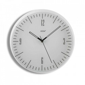 Ceas de perete rotund alb din plastic 30 cm Natasha Versa Home