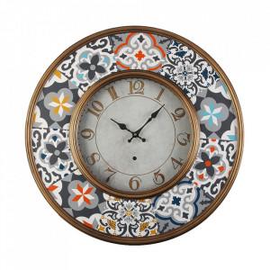 Ceas de perete rotund multicolor din metal 60 cm Pinto Versa Home