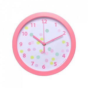 Ceas de perete rotund multicolor din plastic 25 cm Confetti A Little Lovely Company