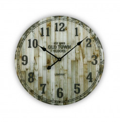 Ceas de perete rotund multicolor din sticla 57 cm Glass Clock Versa Home