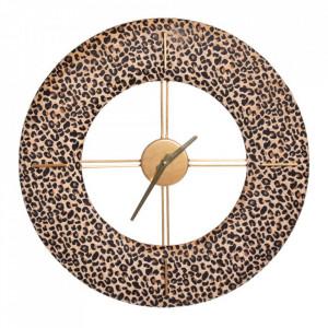 Ceas multicolor din MDF si poliester 48 cm Meow Ixia