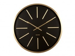 Ceas perete rotund maro alama/negru din aluminiu si sticla 60 cm Maxiemus Present Time