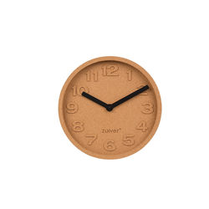 Ceas rotund din pluta 31 cm Cork Time Zuiver