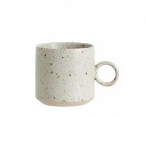 Ceasca bej nisipiu din ceramica 270 ml Grainy Cup Nordal