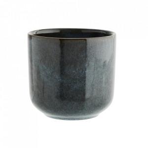 Ceasca maro/albastra din ceramica 8x8,5 cm Fiho Madam Stoltz