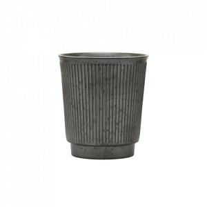 Ceasca neagra din ceramica 8,7x9,7 cm Berica House Doctor