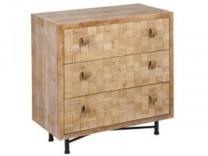 Comoda din lemn de brad, MDF si fier 77 cm Rusty Santiago Pons