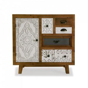 Comoda multicolora din lemn 80 cm Selma Furniture Versa Home