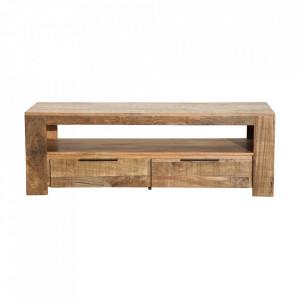 Comoda TV maro din lemn de mango 130 cm Iron Craft Invicta Interior