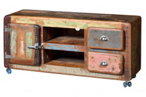 Comoda TV multicolora din lemn reciclat 135 cm Fridge Giner y Colomer